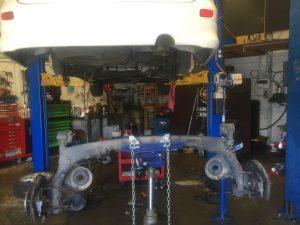 toyota estima rear axle beam suspension
